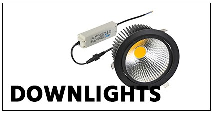 EE-LED Downlights quadratisch warmweiß